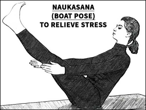 Naukasana Boat Pose Relieve Stress